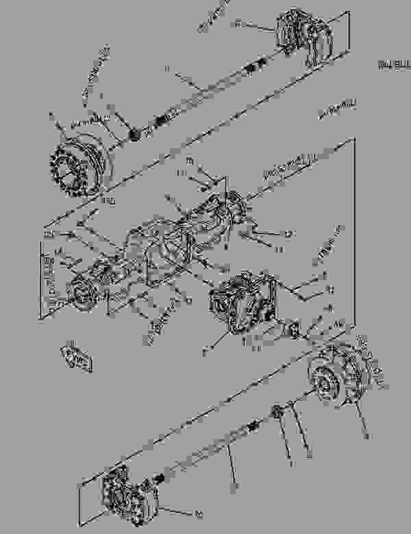 Parts scheme 1508280 AXLE AR-REAR  -SUSPENSION - ARTICULATED DUMP TRUCK Caterpillar 730 - 730 Ejector Articulated Truck B1W00001-UP (MACHINE) POWERED BY C11 Engine POWER TRAIN | 777parts