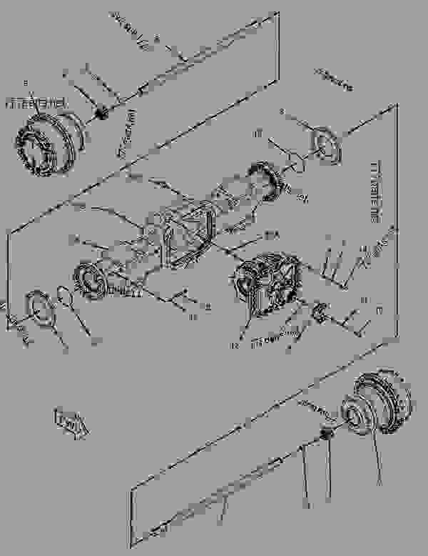 Parts scheme 2374737 AXLE GROUP-FRONT   - ARTICULATED DUMP TRUCK Caterpillar 735 - 735 Articulated Truck B1N00001-UP (MACHINE) POWERED BY C15 Engine POWER TRAIN | 777parts