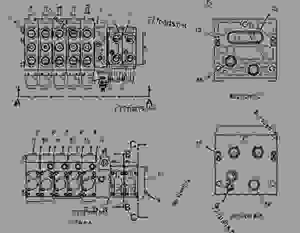 Parts scheme 2479655 VALVE GROUP-BANK 2   - BACKHOE LOADER Caterpillar 428E - 428E Backhoe Loader Parallel Lift SNL00001-UP (MACHINE) POWERED BY 3054C Engine HYDRAULIC SYSTEM | 777parts