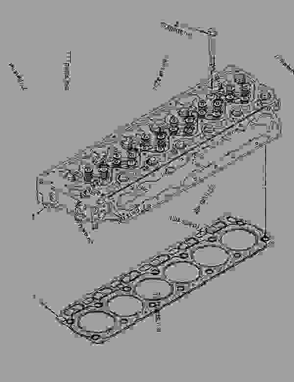 Parts scheme 2798821 CYLINDER HEAD GROUP   - ASPHALT PAVER Caterpillar AP-600D - AP600D Asphalt Paver TFM00200-UP (MACHINE) POWERED BY C6.6 Engine BASIC ENGINE | 777parts