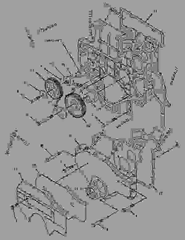 Parts scheme 2216835 HOUSING GROUP-FRONT   - ASPHALT PAVER Caterpillar BB-760 - 3056 Caterpillar Engine For AP-600, BB-760 Asphalt Paver B2B00001-UP (MACHINE) POWERED BY 3056 Engine BASIC ENGINE | 777parts