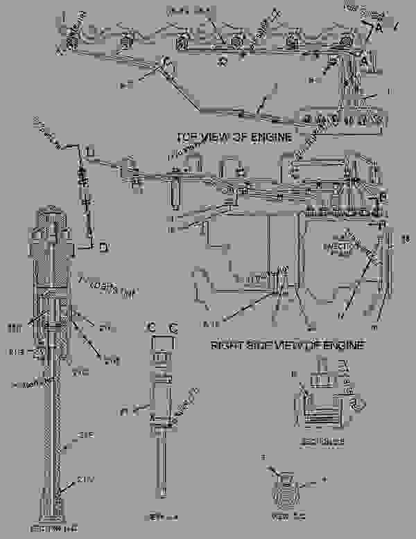Parts scheme 1106370 LINES GROUP-FUEL INJECTION   - ENGINE - GENERATOR SET Caterpillar 3306B - 3306B Generator Set B8D00001-UP FUEL SYSTEM | 777parts