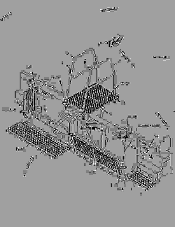 Parts scheme 1975295 PLATFORM GROUP   - ASPHALT PAVER Caterpillar AP-1000D - AP-1000D, BG-260D Asphalt Paver EAD00001-UP (MACHINE) POWERED BY C-7 Engine OPERATOR STATION | 777parts