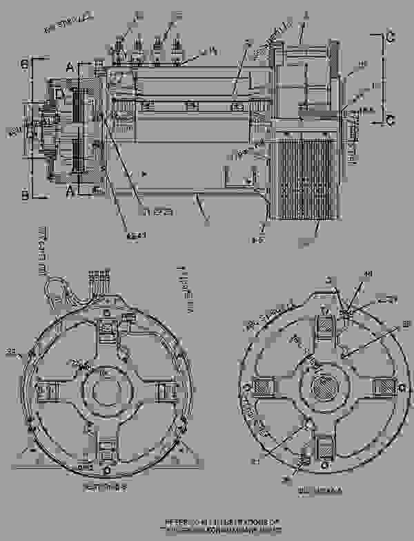 Parts scheme 1946560 GENERATOR GROUP   - ENGINE - GENERATOR SET Caterpillar 3406E - 3406E Generator Set 8AZ00001-UP GENERATORS | 777parts
