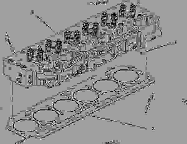 Parts scheme 3323619 CYLINDER HEAD AS   - EARTHMOVING COMPACTOR Caterpillar 815F II - 815F Series 2 Soil Compactor BYN00001-UP (MACHINE) POWERED BY C9 Engine BASIC ENGINE | 777parts