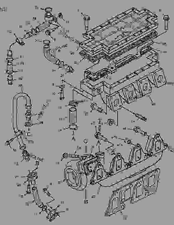 Parts scheme 1662879 TURBOCHARGER GROUP   - ASPHALT PAVER Caterpillar AP-650B - CATERPILLAR AP-650B, BARBER-GREENE BG-225C Asphalt Pavers 9DN00001-UP (MACHINE) POWERED BY 3054 Engine AIR INLET AND EXHAUST SYSTEM | 777parts