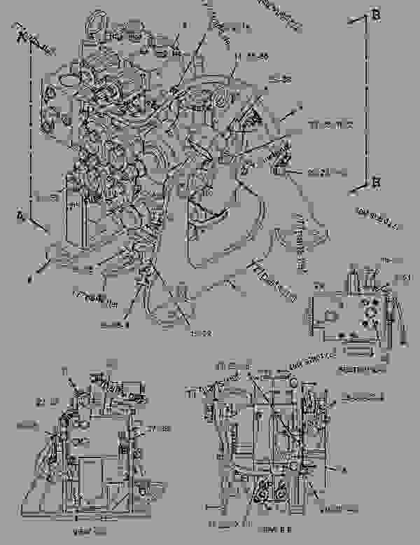 2540059 rotating group-pump -hydraulic fan - track-type tractor caterpillar d8t