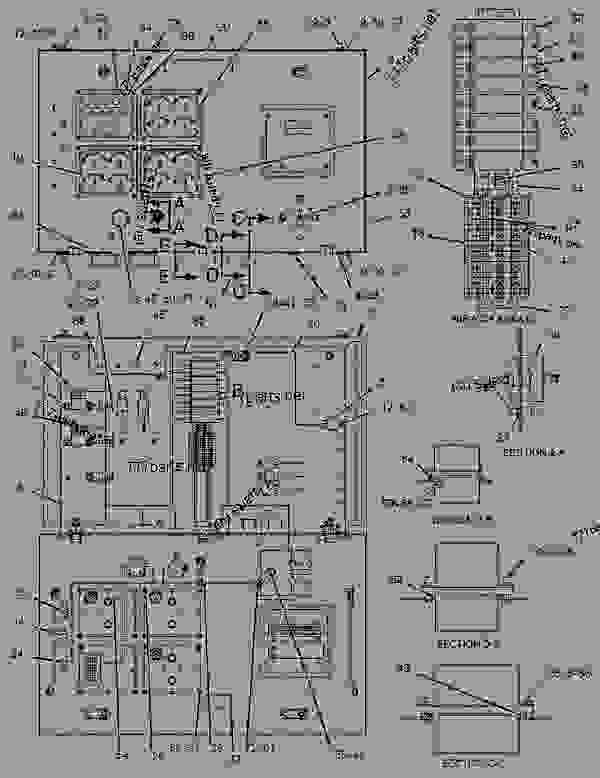 Parts scheme 1259745 BOX GROUP-INSTRUMENT PANEL   - ENGINE - GENERATOR SET Caterpillar 3508B - 3508B Generator Set CNB00001-UP OPERATOR STATION | 777parts