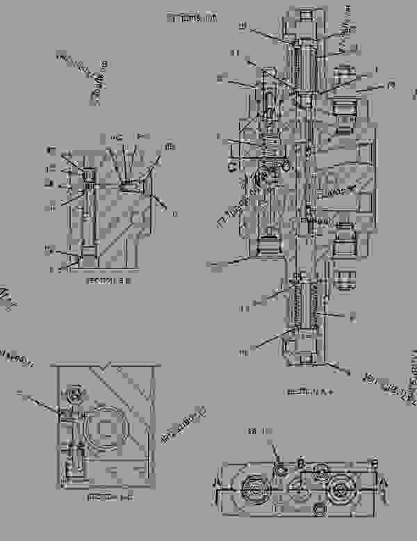 Parts scheme 1914483 VALVE GROUP-CONTROL  -SWING - BACKHOE LOADER Caterpillar 420D - 420D Backhoe Loader FDP00001-07198 (MACHINE) POWERED BY 3054 Engine HYDRAULIC SYSTEM | 777parts