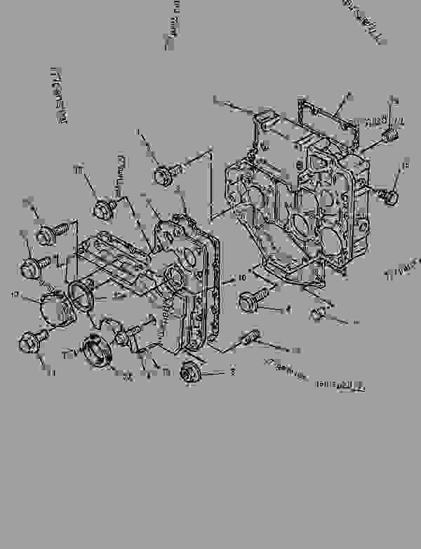 Parts scheme 6I0834 HOUSING GROUP-FRONT   - ENGINE - GENERATOR SET Caterpillar 3054 - 3054 Generator Set Engine 4ZK00001-UP BASIC ENGINE | 777parts