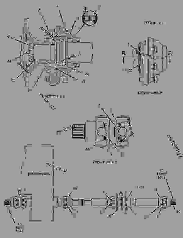 Parts scheme 2055845 SHAFT GROUP-DRIVE   - EARTHMOVING COMPACTOR Caterpillar 816F - 816F Landfill Compactor BMR00001-UP (MACHINE) POWERED BY 3176C Engine POWER TRAIN | 777parts
