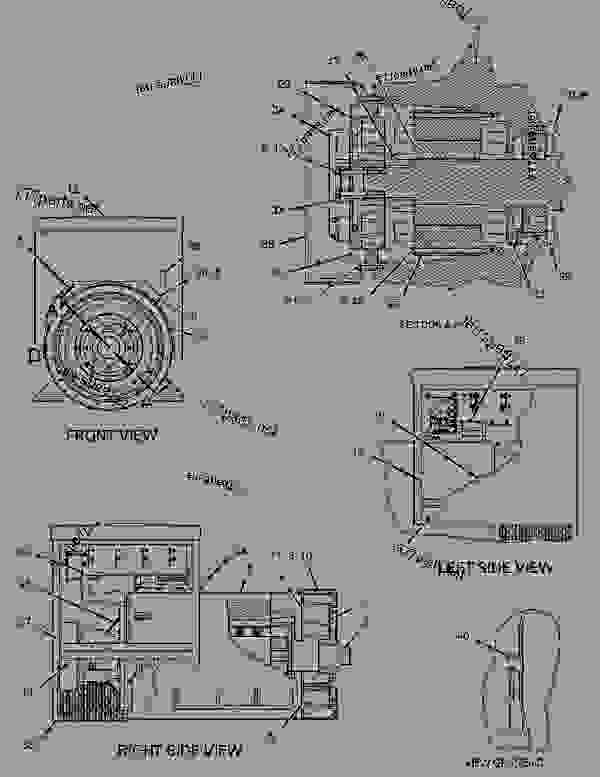 Parts scheme 1091598 GENERATOR GROUP   - ENGINE - GENERATOR SET Caterpillar 3412 - 3412 Generator Set Engine 2WJ00001-UP GENERATORS | 777parts