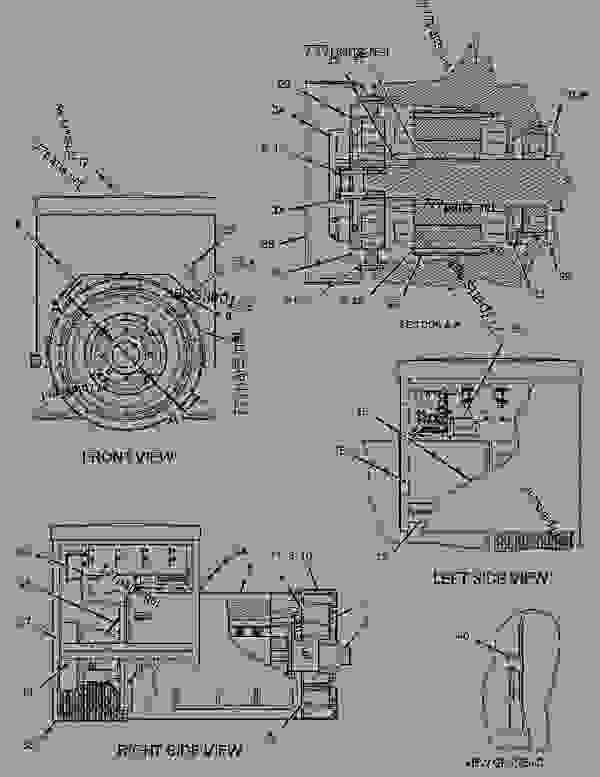 Parts scheme 1091604 GENERATOR GROUP   - ENGINE - GENERATOR SET Caterpillar 3412 - 3412 Generator Set Engine 2WJ00001-UP GENERATORS | 777parts