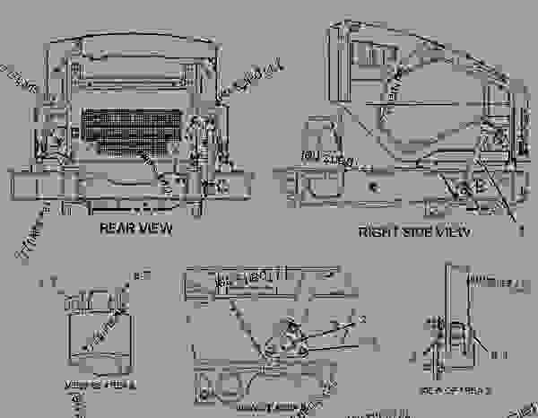 Parts scheme 1527024 TILT GROUP-HOOD   - ARTICULATED DUMP TRUCK Caterpillar 740 - 740 Ejector Articulated Truck AZZ00001-UP (MACHINE) POWERED BY 3406E Engine FRAME AND BODY | 777parts