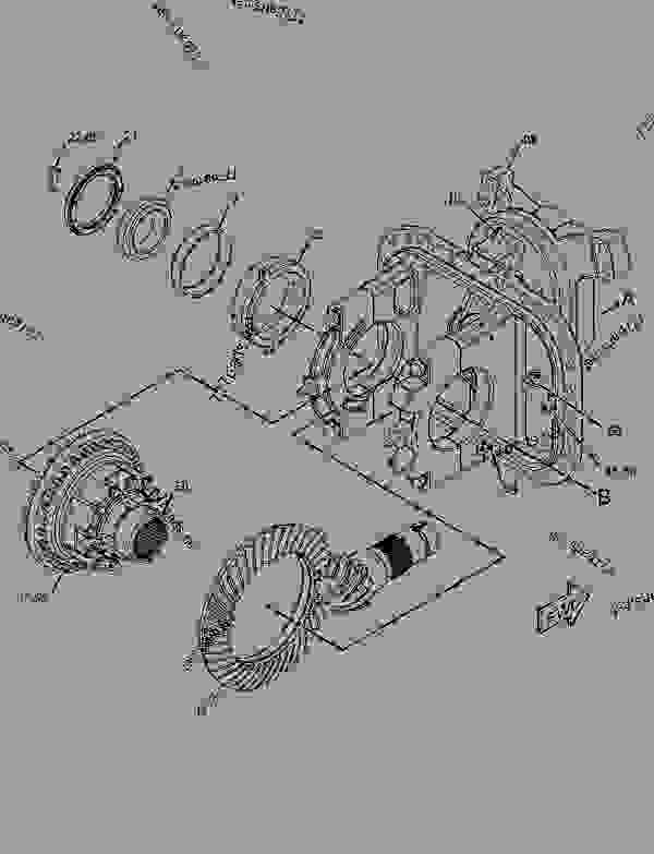 Parts scheme 1540300 DIFFERENTIAL & BEVEL GEAR GROUP  -AXLE, CENTER - ARTICULATED DUMP TRUCK Caterpillar 735 - 735 Articulated Truck B1N00001-UP (MACHINE) POWERED BY C15 Engine POWER TRAIN | 777parts