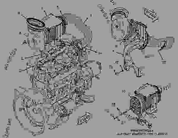 Parts scheme 2111018 RADIATOR & OIL COOLER GROUP  -HYDRAULIC, TRANSMISSION - BACKHOE LOADER Caterpillar 414E - 414E Backhoe Loader ELB00001-UP (MACHINE) POWERED BY 3054 Engine COOLING SYSTEM | 777parts
