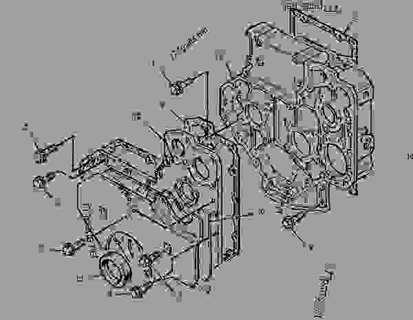 Parts scheme 1853194 HOUSING GROUP-FRONT   - BACKHOE LOADER Caterpillar 424D - 424D Backhoe Loader BGP00001-00647 (MACHINE) POWERED BY 3054 Engine BASIC ENGINE | 777parts