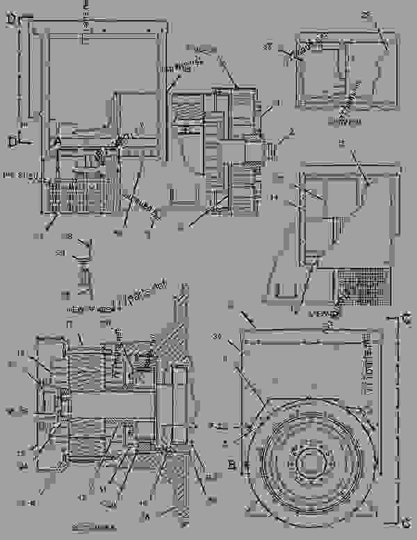 Parts scheme 1291524 GENERATOR GROUP   - ENGINE - GENERATOR SET Caterpillar 3306B - 3306B Generator Set B8D00001-UP GENERATORS | 777parts