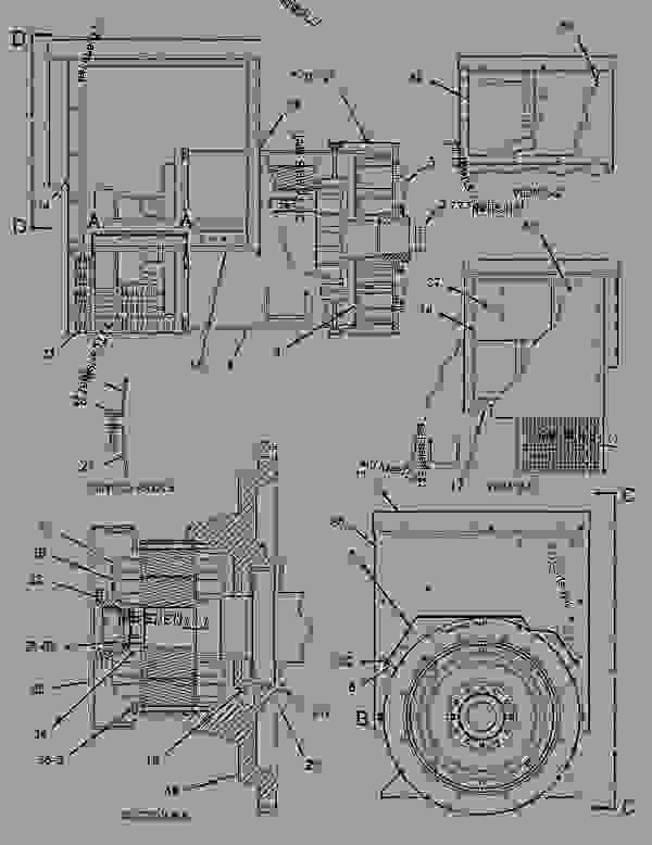 Parts scheme 1291523 GENERATOR GROUP   - ENGINE - GENERATOR SET Caterpillar 3306B - 3306B Generator Set B8D00001-UP GENERATORS | 777parts