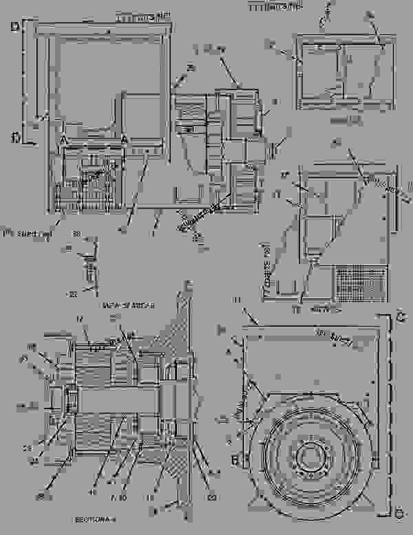 Parts scheme 1291522 GENERATOR GROUP   - ENGINE - GENERATOR SET Caterpillar 3306B - 3306B Generator Set B8D00001-UP GENERATORS | 777parts