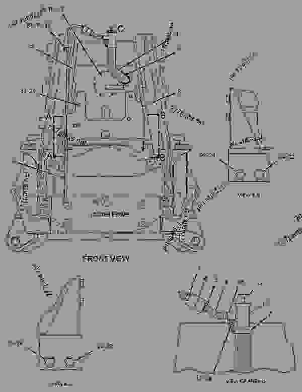 Parts scheme 2214265 MOUNTING GROUP-CYLINDER  -THUMB - BACKHOE LOADER Caterpillar 416E - 416E Backhoe Loader Single Tilt Center Pivot SHA00001-UP (MACHINE) POWERED BY 3054C Engine HYDRAULIC SYSTEM | 777parts