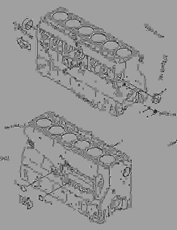 Parts scheme 3058141 CYLINDER BLOCK GROUP   - CHALLENGER Caterpillar 55 - Challenger 55 Agricultural Tractor 80 in (2032 mm) Base Gauge AEN00001-UP (MACHINE) POWERED BY 3126 Engine BASIC ENGINE | 777parts
