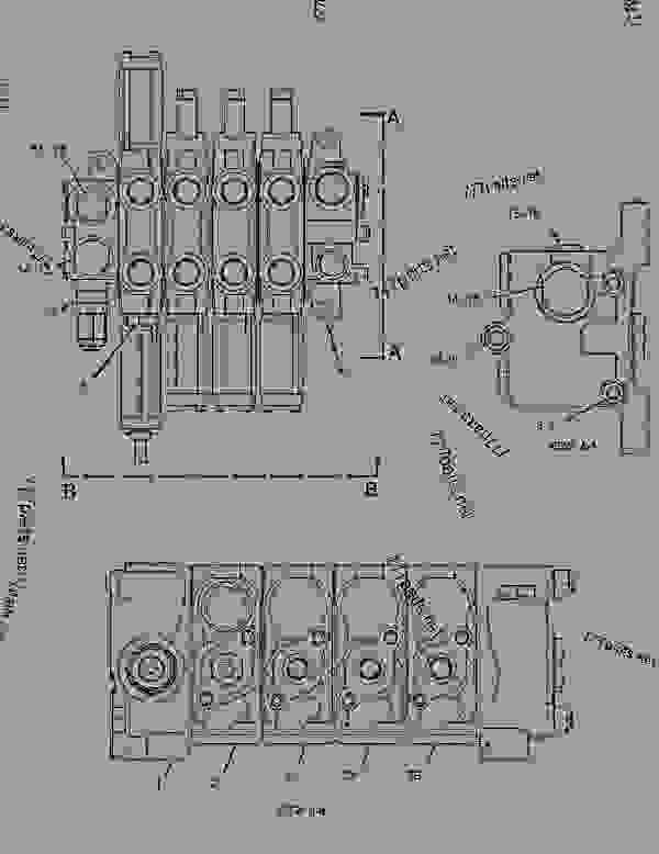 Parts scheme 2992433 VALVE GROUP-MAIN CONTROL  -4-FUNCTION - EARTHMOVING COMPACTOR Caterpillar 825H - CUSTOM PRODUCT SUPPORT LITERATURE FOR THE 824H WHEEL TYPE TRACTOR, THE 825H COMPACTOR (SOIL) AND THE 826H COMPACTOR (LANDFILL) AZW00001-UP (MACHINE) HYDRAULIC SYSTEM | 777parts