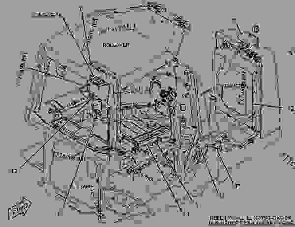2456047 wiring group-cab -orops - track-type tractor caterpillar d5k xl