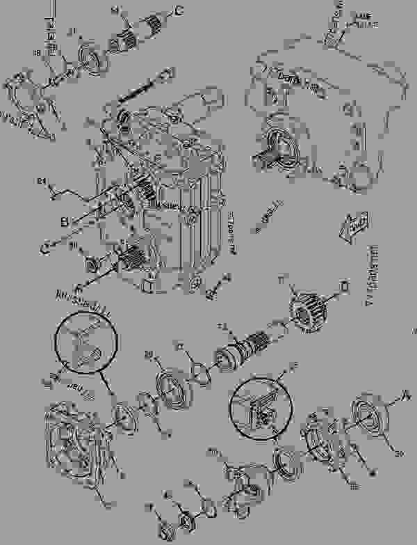 Parts scheme 2925410 DIFFERENTIAL & BEVEL GEAR GROUP  -REAR, LOCKING, HIGH SPEED AXLE - WHEEL-TYPE LOADER Caterpillar 906H - 906H Wheel Loader SDH00001-UP (MACHINE) POWERED BY C3.4 IND Engine POWER TRAIN | 777parts