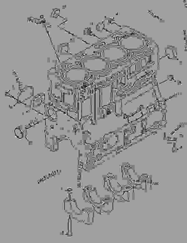 Parts scheme 2327604 CYLINDER BLOCK GROUP   - BACKHOE LOADER Caterpillar 428E - 428E Backhoe Loader DXC00001-UP (MACHINE) POWERED BY C4.4 (MECH) Engine BASIC ENGINE | 777parts