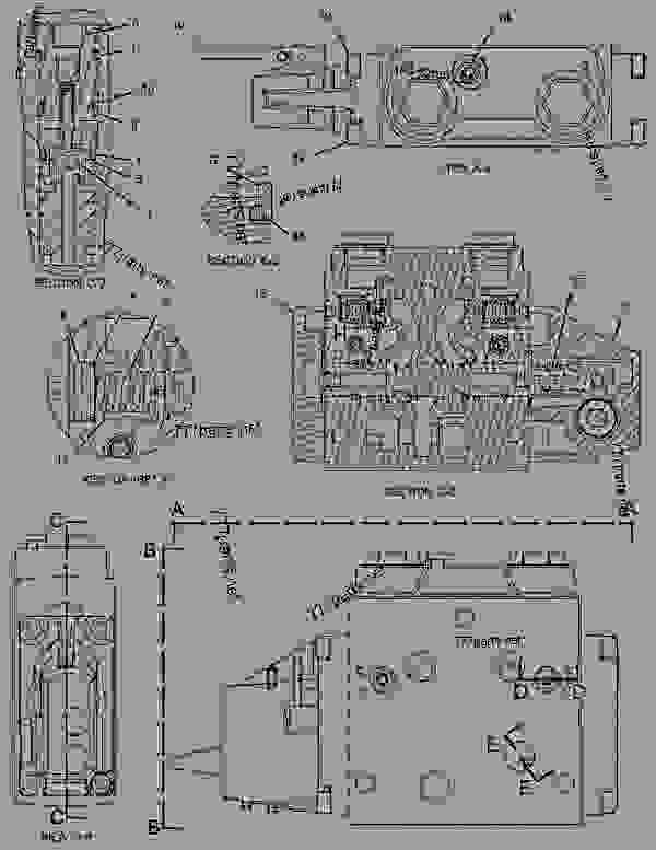 Parts scheme 2596733 VALVE GROUP-CONTROL  -AUXILIARY - BACKHOE LOADER Caterpillar 428E - 428E Backhoe Loader DXC00001-UP (MACHINE) POWERED BY C4.4 (MECH) Engine HYDRAULIC SYSTEM | 777parts