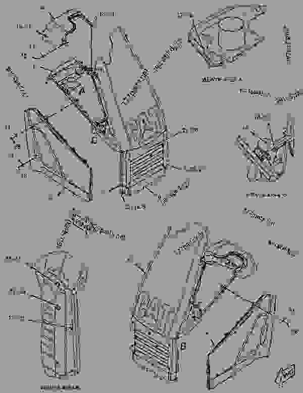 Parts scheme 2514519 FRAME GROUP-SWING   - BACKHOE LOADER Caterpillar 416E - 416E Backhoe Loader Single Tilt Center Pivot CBD00001-UP (MACHINE) POWERED BY 3054C Engine FRAME AND BODY | 777parts
