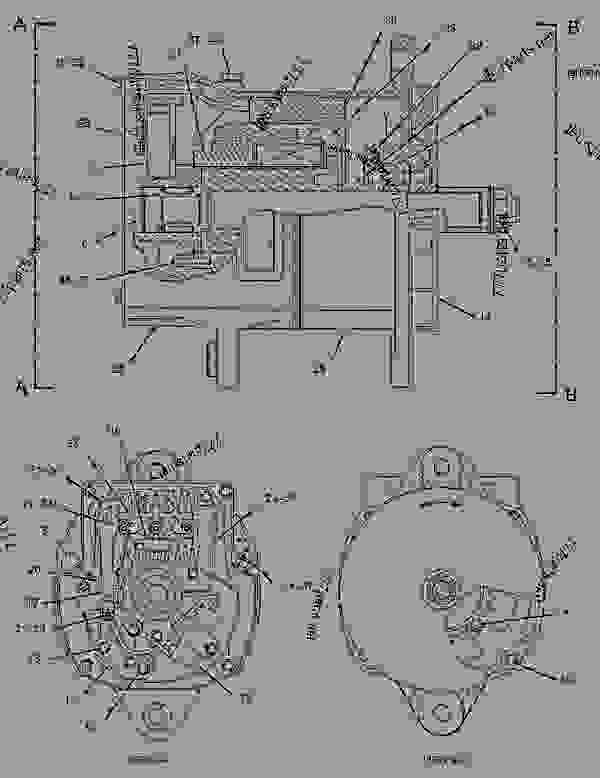 Parts scheme 1142401 ALTERNATOR GROUP-CHARGING   - ASPHALT PAVER Caterpillar AP-655C - AP-655C.BG-2255C Asphalt Paver CDG00001-UP (MACHINE) POWERED BY 3056 Engine ELECTRICAL AND STARTING SYSTEM | 777parts