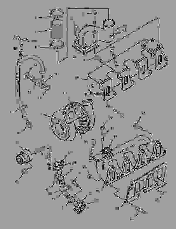 Parts scheme 1487184 TURBOCHARGER GROUP   - BACKHOE LOADER Caterpillar 426C - 426C Backhoe Loader Center Pivot, Parallel Lift 1MR00001-00955 (MACHINE) POWERED BY 3054 Engine AIR INLET AND EXHAUST SYSTEM | 777parts
