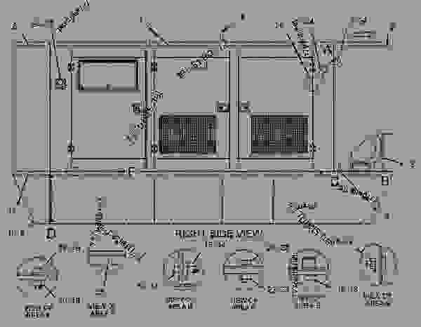 Parts scheme 1497901 ENCLOSURE GROUP-GENERATOR   - ENGINE - GENERATOR SET Caterpillar 3306B - 3306 Generator Set 8NS00001-UP ENCLOSURES, GUARDS AND BASES | 777parts