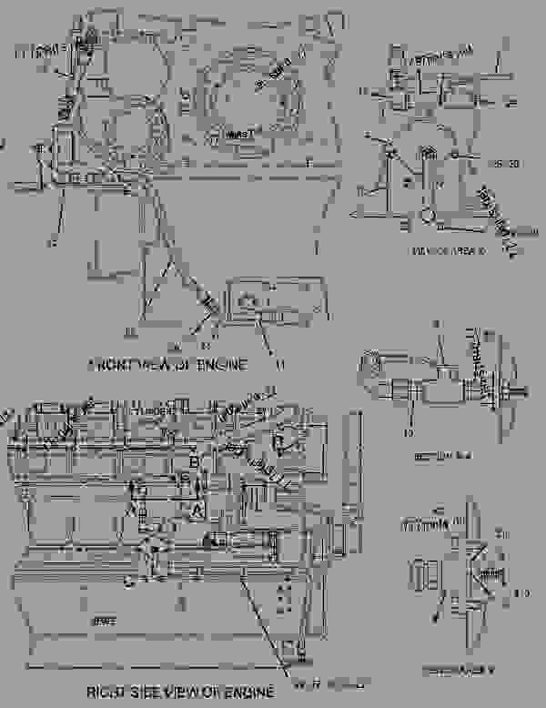 Parts scheme 1977083 PUMP & LINES GROUP-PRELUBRICATION  -DEEP SUMP - ENGINE - GENERATOR SET Caterpillar 3508B - 3508B Generator Set CNB00001-UP LUBRICATION SYSTEM | 777parts