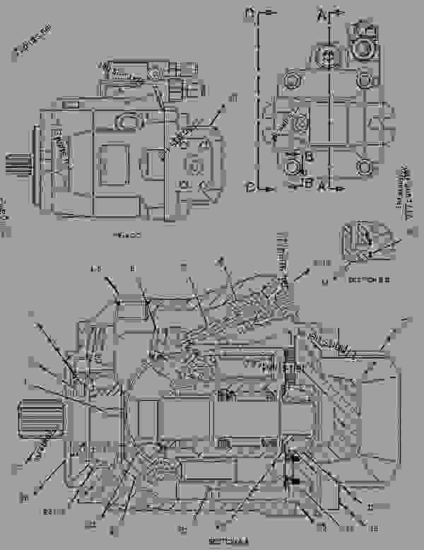 Parts scheme 1580522 PUMP GROUP-PISTON   - CHALLENGER Caterpillar 95E - Challenger 95E Agricultural Tractor 1SM00001-UP (MACHINE) POWERED BY 3196 Engine HYDRAULIC SYSTEM | 777parts