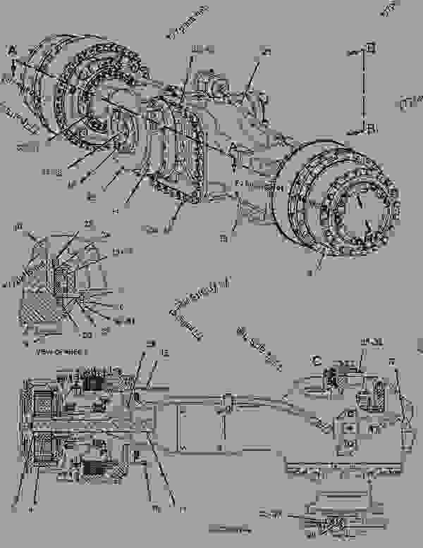 Parts scheme 1416892 AXLE GROUP-CENTER - Caterpillar spare part | 777parts