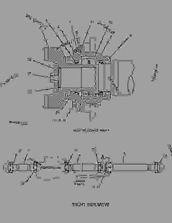 Parts scheme 1955979 PUMP GROUP-TRANSMISSION   - EARTHMOVING COMPACTOR Caterpillar 836G - 836G Landfill Compactor 3456 Engine 7MZ00001-UP (MACHINE) POWER TRAIN | 777parts
