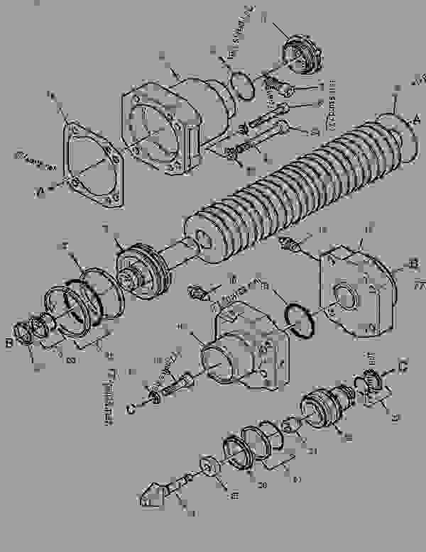 Parts scheme 3419490 CYLINDER GROUP-BRAKE   - FOREST PRODUCTS Caterpillar 2748 - 2748 2948 Forwarder PCL00001-UP (MACHINE) POWERED BY C7 Engine POWER TRAIN | 777parts