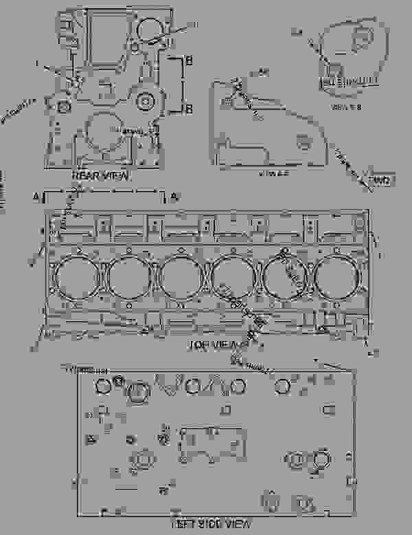 Parts scheme 3031384 CYLINDER BLOCK AS   - ARTICULATED DUMP TRUCK Caterpillar 725 - 725 Articulated Truck B1L00001-UP (MACHINE) POWERED BY C11 Engine BASIC ENGINE | 777parts