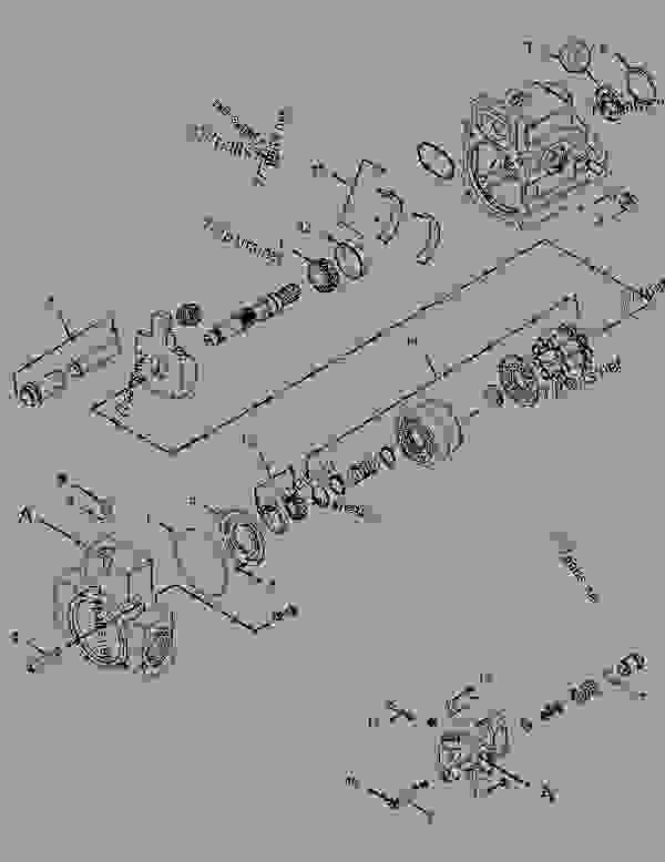 Parts scheme 2309385 PUMP GROUP-PISTON  -AUXILIARY - ASPHALT PAVER Caterpillar AP-1000D - AP-1000D, BG-260D Asphalt Paver EAD00001-UP (MACHINE) POWERED BY C-7 Engine HYDRAULIC SYSTEM | 777parts