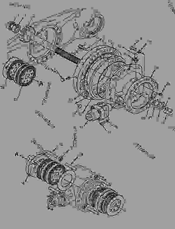 Parts scheme 3570478 AXLE GROUP-FIXED   - FOREST PRODUCTS Caterpillar 2748 - 2748 2948 Forwarder PCL00001-UP (MACHINE) POWERED BY C7 Engine POWER TRAIN | 777parts