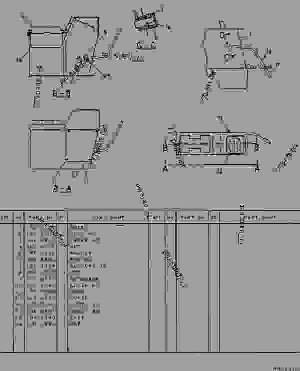 Parts scheme 1012335 CONSOLE GROUP  - EXCAVATOR Caterpillar 307 - 307 TRACK-TYPE EXCAVATOR 2PM00001-UP (MACHINE) POWERED BY 4D32 ENGINE CAB, GAUGES AND ACCESSORIES | 777parts