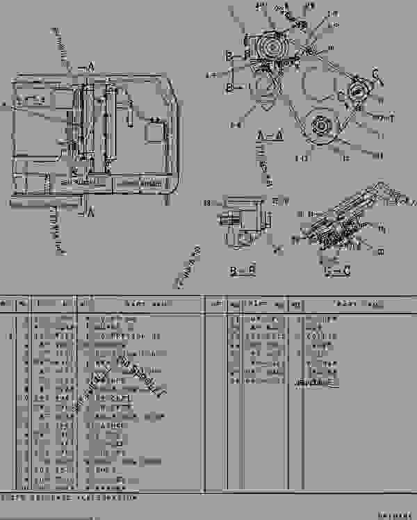 Parts scheme 1023760 COMPRESSOR GROUP-REFRIGERANT  - EXCAVATOR Caterpillar 307 - 307 TRACK-TYPE EXCAVATOR 2PM00001-UP (MACHINE) POWERED BY 4D32 ENGINE CAB, GAUGES AND ACCESSORIES | 777parts