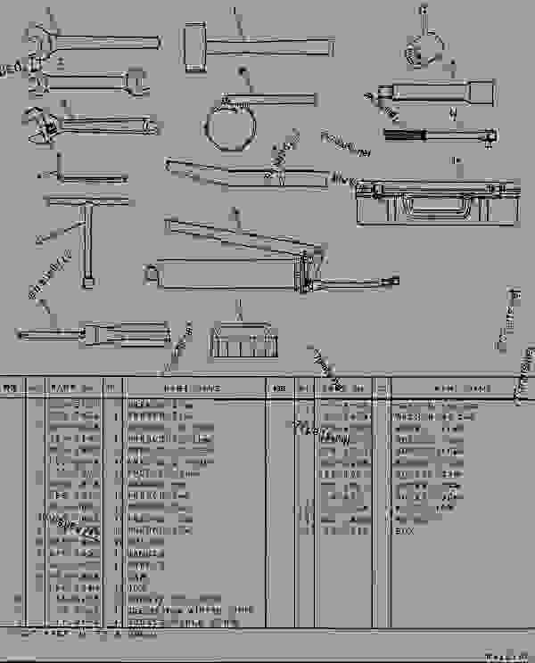Parts scheme 1025489 TOOL GROUP   - EXCAVATOR Caterpillar 307 - 307 TRACK-TYPE EXCAVATOR 2PM00001-UP (MACHINE) POWERED BY 4D32 ENGINE SERVICE EQUIPMENT AND SUPPLIES | 777parts