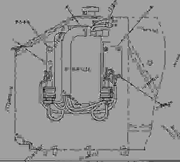 1944269 wiring group-throttle -enclosed rops - track-type tractor caterpillar d7r ii