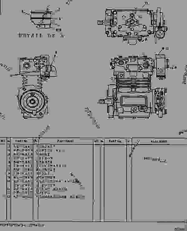 caterpillar air compressor schematic