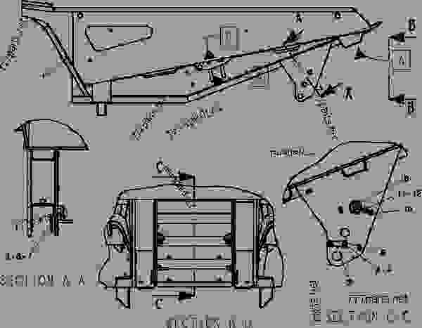 Parts scheme 3511326 BODY AR-EJECTOR   - UNDERGROUND ARTICULATED TRUCK Caterpillar AD45B - AD45B UNDERGROUND ARTICULATED TRUCK CXM00001-UP (MACHINE) FRAME AND BODY | 777parts
