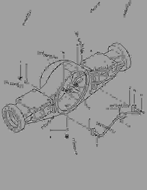 Parts scheme FRONT AXLE HOUSING-MAX. TRAC - WHEEL LOADER Doosan TXL300-1 - HYDRAULIC PARTS | 777parts